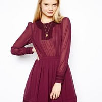 ASOS Skater Dress With Pretty Lace Detail