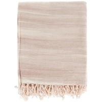 Watercolor Mocha Brown Cotton Throw Blanket