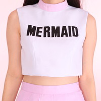 Glitters For Dinner — Made To Order - Mermaid Crop Top