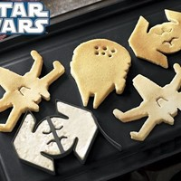 Star Wars Pancake Molds, Set of 3 Vehicles: X-Wing Fighter, Vaders Tie Fight...