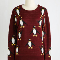 Quirky Mid-length Long Sleeve Pole-to-Pole Panache Sweater