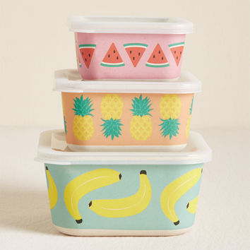 Nom and Collected Nesting Food Storage Set in Fruit
