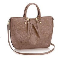 Tagre™ Authentic Louis Vuitton Mazarine MM Bag Handbag Article: M50710 Taupe Made in France