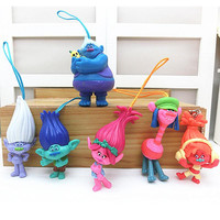 On Sale 6pcs/set Trolls  Figure's From the  Movie