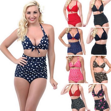 Sexy Marilyn Retro High Waist Swimsuit with Plus Size Options