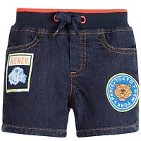Baby Boys Denim Short With Patches