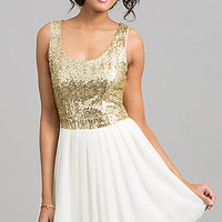 Short Semi-Formal Sequin Top Dress by B Darlin