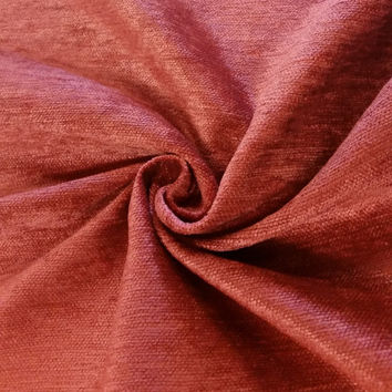"""Luxury Red 100% Polyester Fire Resistant Velvet Fabric for Upholstery Heavy Weight Curtain Drapery FR Material Sold by The Yard 54"""" W"""