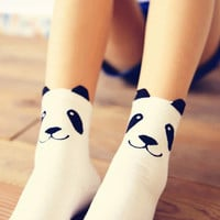 Kawaii Panda Short Cotton Socks Set (2 pairs)