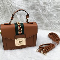 Gucci Women Fashion Pattern Leather Handbag Crossbody Shoulder Bag