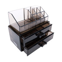 Black Acrylic Makeup Cosmetic Drawer Organizer or Jewelry Box Display Storage Case