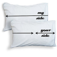 'my side, your side' pillowcases by twisted twee   notonthehighstreet.com