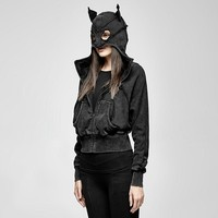 Sexy Cat Hooded Women Jacket