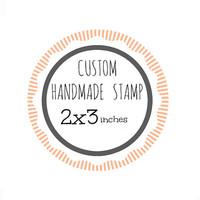 Custom Stamp - Custom Logo Stamp - Custom Rubber Stamp - Branding Stamp 2x3 inches