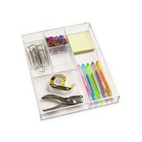 5-Section Acrylic Divided Tray | The Container Store