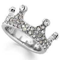 Bar III Silver-Tone Crystal Crown Midi Ring