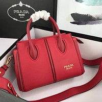 prada newest popular women leather handbag tote crossbody shoulder bag satchel 74