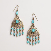 Blue and Gold Chandelier Earrings | World Market