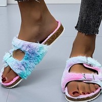 New style hot fashion sexy color plush slippers