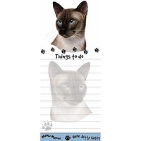 Siamese Cat Tall Magnetic Notepad