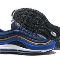 NIKE AIR MAX 97 Blue Retro Running Shoes Size 40-46