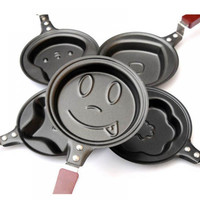 Healthy Nonstick Stainless Steel Cute Shaped Egg Mould Pans Mini Breakfast Egg Frying Pans Cooking Tools
