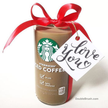 Valentines Day Coffee Gift Love You Starbucks Candle Iced Coffee