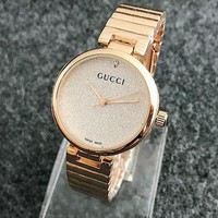 GUCCI Ladies Fashion Casual Quartz Watches Wrist Watch Rose golden G
