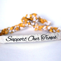 Support Our Troops Customizable Military Bracelet - Army, Marines, Air Force, Navy, Soldier Wife, Girlfriend, Fiance (women, teen girl)