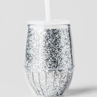 Travel Stemless Wine Cup In Silver