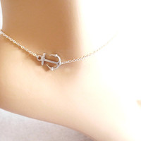 Anchor, Anklet, Gold/ Silver, Anklet, Jewelry, Marine, Nautical, Anklet, Bridesmaid, Jewelry, Anchor, Jewelry, Anchor, Anklet, Jewelry