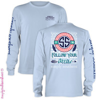 NEW Simply Southern Collection Follow Your Arrow Girlie Bright Long Sleeve T Shirt