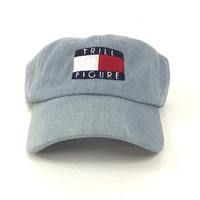 The Trill Figure Dad Hat in Denim