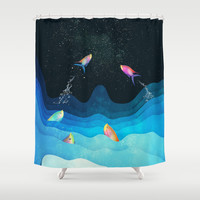 Come to reach the stars Shower Curtain by SensualPatterns
