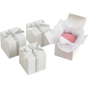 White Square Favor Boxes Value Pack - 100 ct.