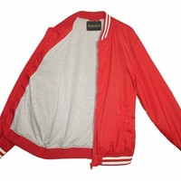 Cherry Red Bomber Jacket