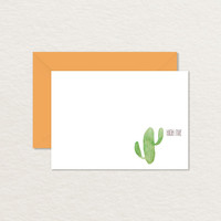 High Five Watercolor Cactus 4 Bar Printable Note Card / Printable Stationery
