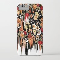 Free Falling, melting floral pattern iPhone & iPod Case by Kristy Patterson Design