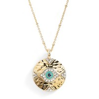 Women's Lonna & Lilly 'Evil Eye' Pendant Necklace - Gold/ Turquoise