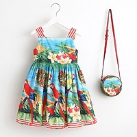 Baby Girls Dress Kids Clothes Toddler Dress with Bag Robe Christmas Dress Princess Children Clothing