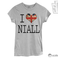 I Love Niall Horan Tshirt - One Direction Shirt - 058