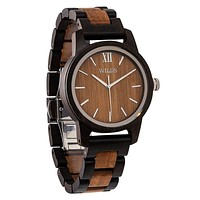 Men's Handmade Walnut Wooden Timepiece - Personal Watch with Wood Band