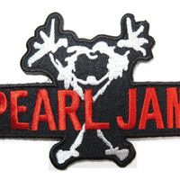 """PEARL JAM Stickman Cut Out Iron On Embroidered Patch 3.7""""/9.5cm"""