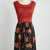 Mid-length Sleeveless A-line I Love Your Dress in Evening Roses
