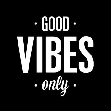"""Typography Print Poster Art """"Good Vibes Only"""" Motivational Wall Art Decor Subway Art Inspirational Quote Typographic Design"""