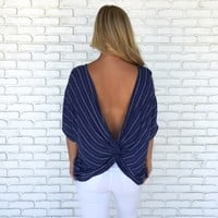 Sea Day Top in Navy