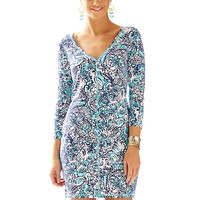 Lilly Pulitzer Juliet Printed Fitted V-Neck T-Shirt Dress