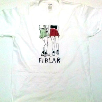 "Fidlar ""girls"" unisex t-shit  garage punk rock surf skate zac carper music tee"