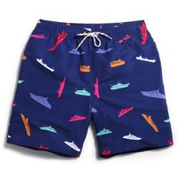 Yacht Men's Blue Casual Quick Dry Beach Board Shorts