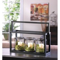 Stunning Glass Jar Candle Holder Trio